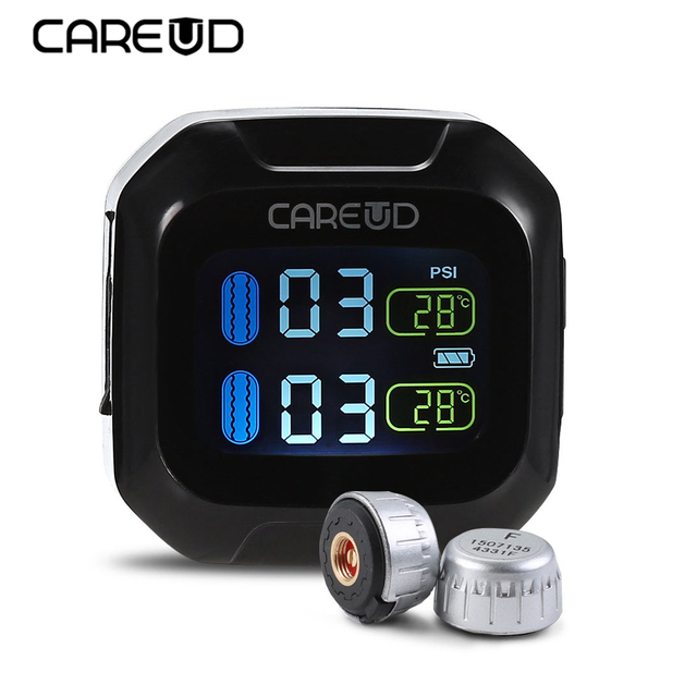 Careud M3 WI TPMS Motorcycle Motorbike LCD Screen Display Tire Pressure Monitoring System Support Real-Time And Temperature