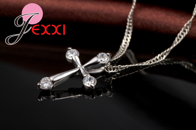 HTB1TOK2MXXXXXaOXpXXq6xXFXXXn - 925 Sterling Silver Pendant Necklace Fashion Brand Crystal Party/Engagement Jewelry For Women Romantic Gift Hot Sale