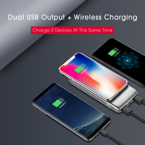 Image 4 - WST 10000mAh Wireless Charger Power Bank PD3.0 18W Quick Charge Powerbank With Type C Portable Wireless Battery Charger