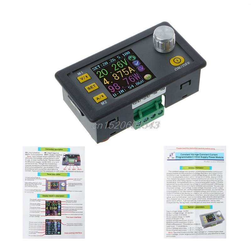 Programmable Current Voltage Constant Step-down Power Module Supply Buck Converter Voltage LCD Voltmeter DPS5005 DPS3005 DPS3003 lm2596 solar wind energy automatic step down constant current constant voltage power supply module