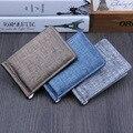 Moda Nueva cartera Unisex hombres mujeres Clips Dinero Negro Marrón Superior Pu 2 Doblado Abierto Abrazadera Para Dólar no Cremallera de La Moneda bolsillo