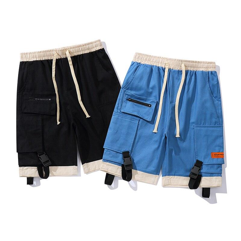 New Heron Preston Shorts Men Pocket Joggers Sweatpants Streetwear Beach Blue Black Shorts Summer Style Heron Preston Men Short