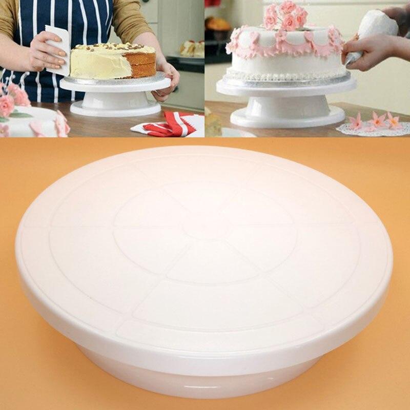 Doelbewust Cake Tools 360 Revolving Draaitafel Suiker Ambacht Stand Taart Kwartelplaat Platform Bakken Tools