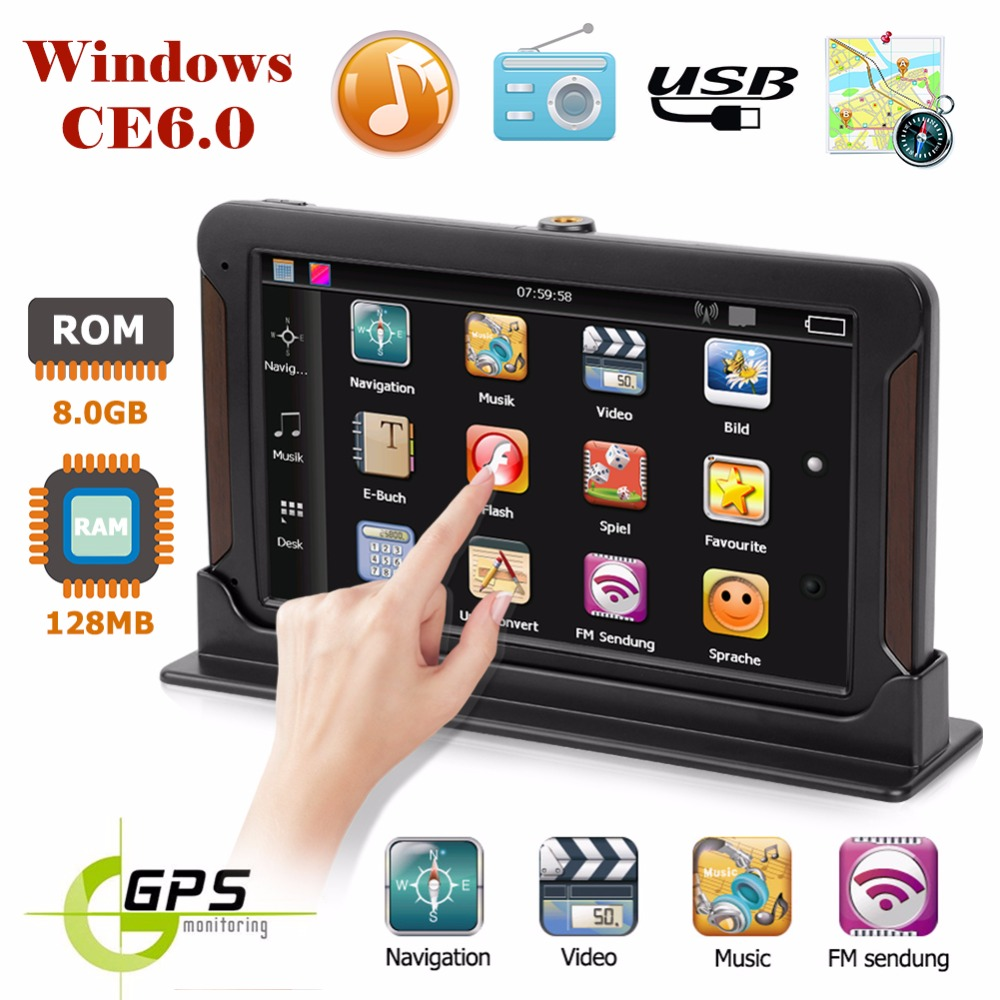 7 inch HD Car GPS Navigation FM 128M 8GB Capacitive Screen Car Vehicle Truck GPS Europe