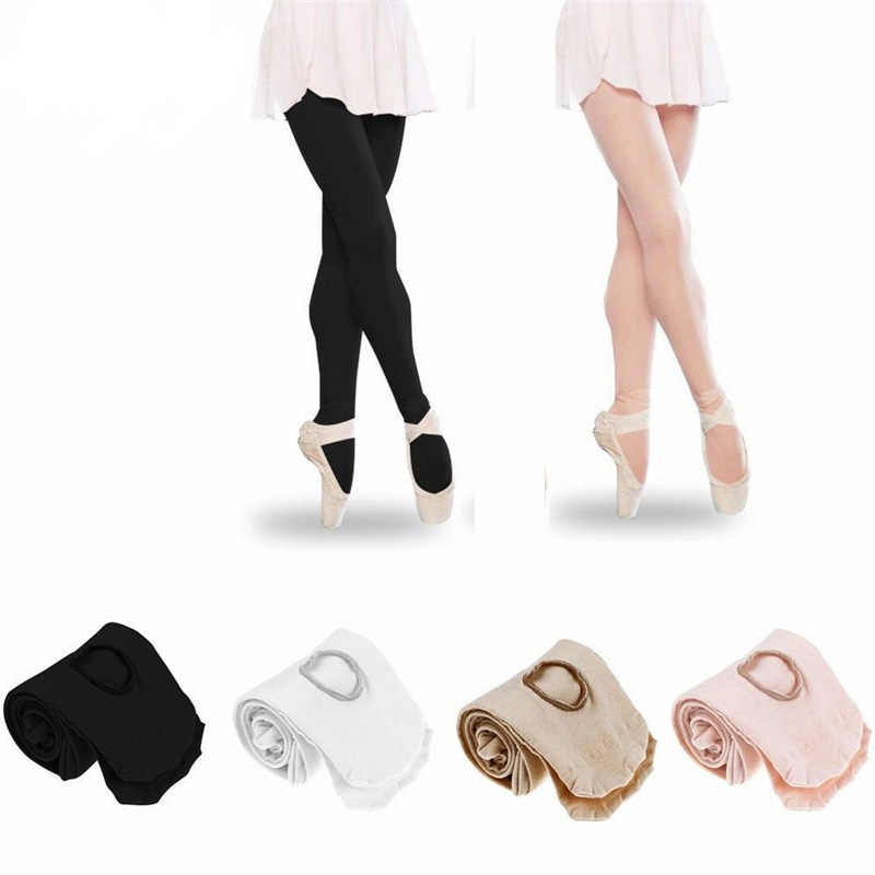 914747ab1788f TiaoBug Girls Women Solid Color Professional Ballet Dance Tights Footed  Dress Leggings Pantyhose White Nude Black