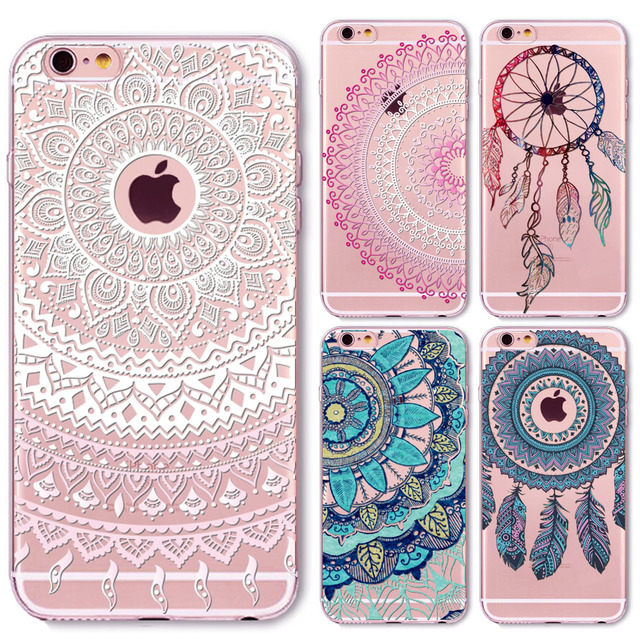 best website a5f87 268f6 US $1.44 |Dream Catcher Mandala Phone Case for iphone X 5 5s SE 6 6s 6plus  7 plus Thin Funda Retro Vintage Flower Cover Soft TPU Coque-in Fitted Cases  ...
