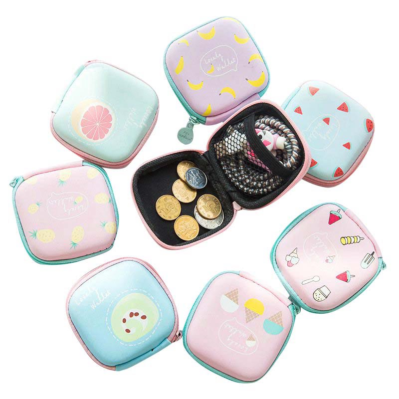 Case Containers-Organizer Cable Storage-Box Earphones Headset Phone-Power-Charger Square