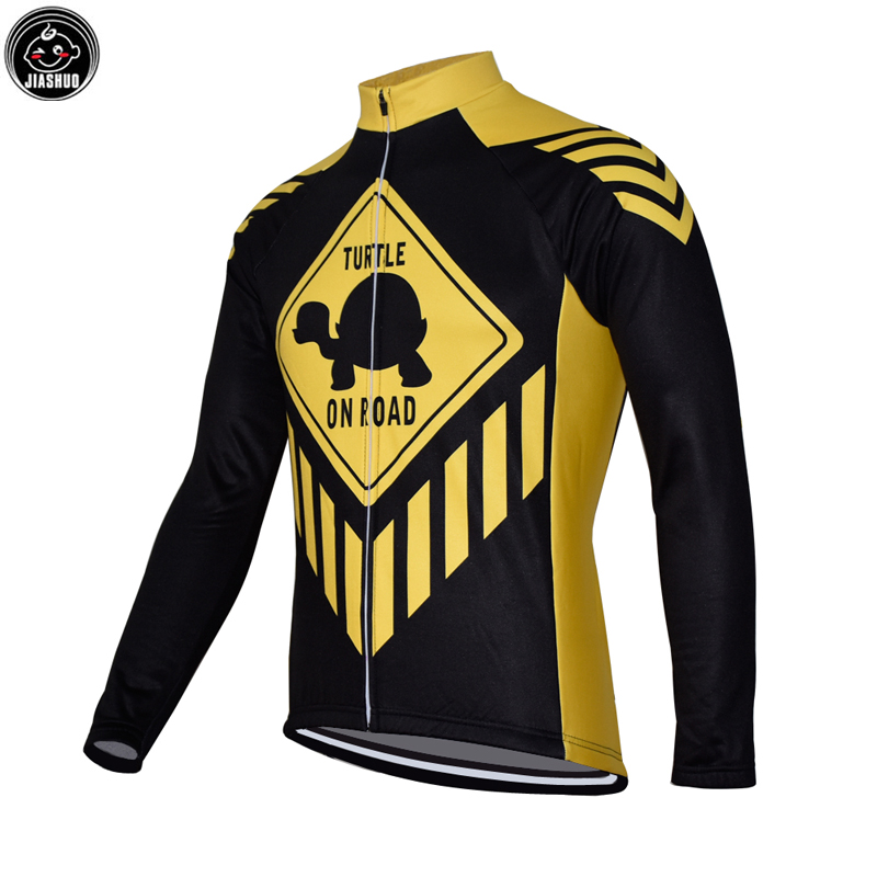 Winter Thermal Fleece Or Thin Funny Classical Road Mountain Team Long Pro Cycling Jersey JIASHUO 2 Chooses