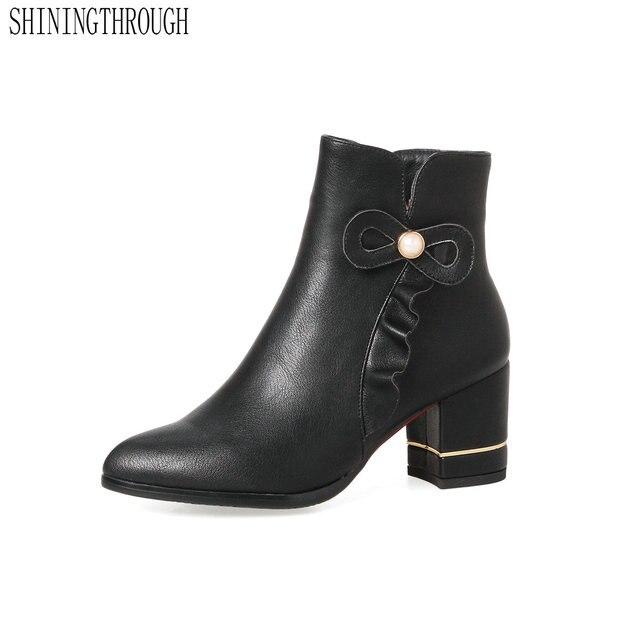 Shiningthrough mujeres 2018 mujeres Shiningthrough moda vintage Cuero auténtico Zapatos de4e76
