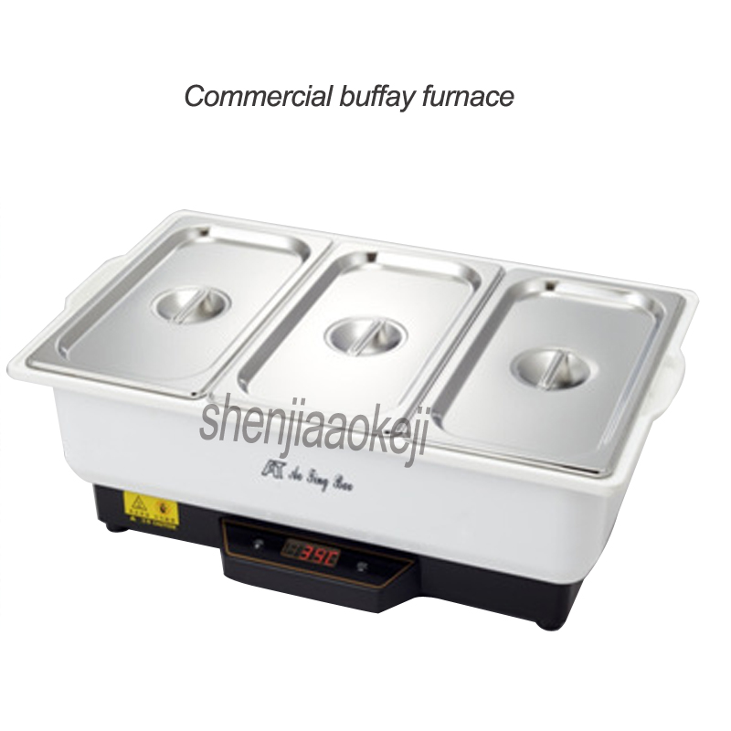 Здесь можно купить  Commercial buffet furnace Electric Buffay stove Three grid insulation furnace with stainless steel cover kitchen equipment 500W  Бытовая техника
