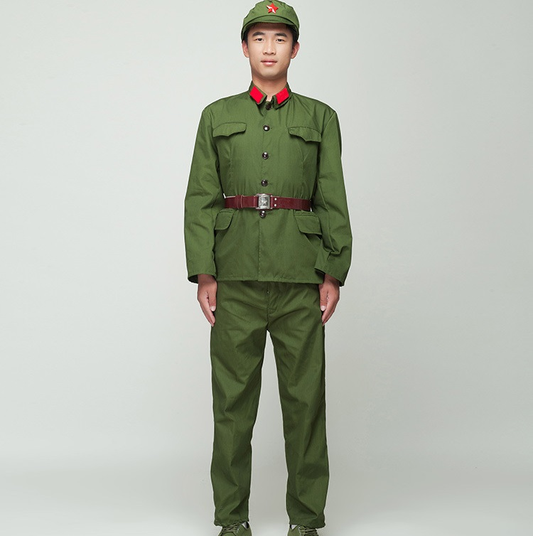 Uniforme de soldado norcoreano, Guardias Rojos, traje de actuación verde, película de televisión, traje del ejército de ocho rutas, militar de Vietnam Pala táctica multifunción montacargas militar para exteriores con pala para nieve todoterreno pala plegable para supervivencia al aire libre