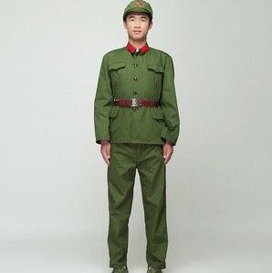 Uniforme do soldado da coreia do norte guardas vermelhos verde desempenho traje palco filme televisão oito rota exército equipamento vietnã militar