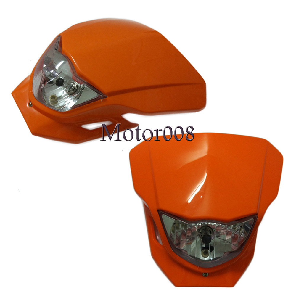 Motorcycle Enduro Headlight Head Lamp Fairing For