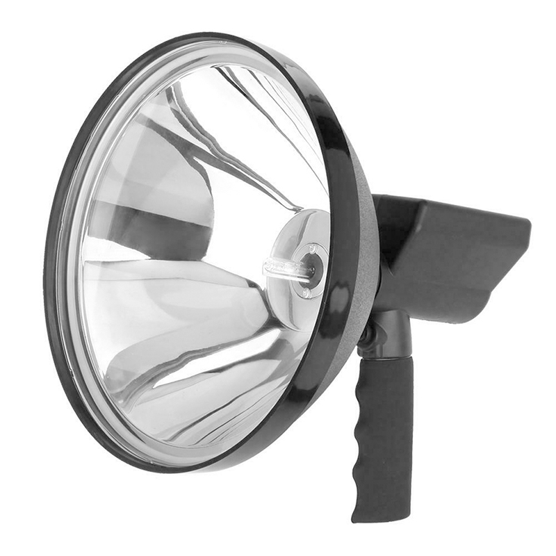 Купить с кэшбэком 1000W Portable Searchlights Spotlight 12V Hunting light handheld lamp 9 inch 245mm Outdoor spot lights for Camping lighting