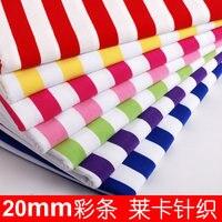baby 20 mm stripe cotton knitted fabrics leica all T shirt diy fabric cloth