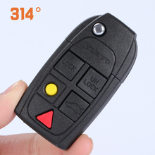 Six-button Black Folding Key Remote Control Replacement Shell Suit For Cx90 / S80 Car Accessories