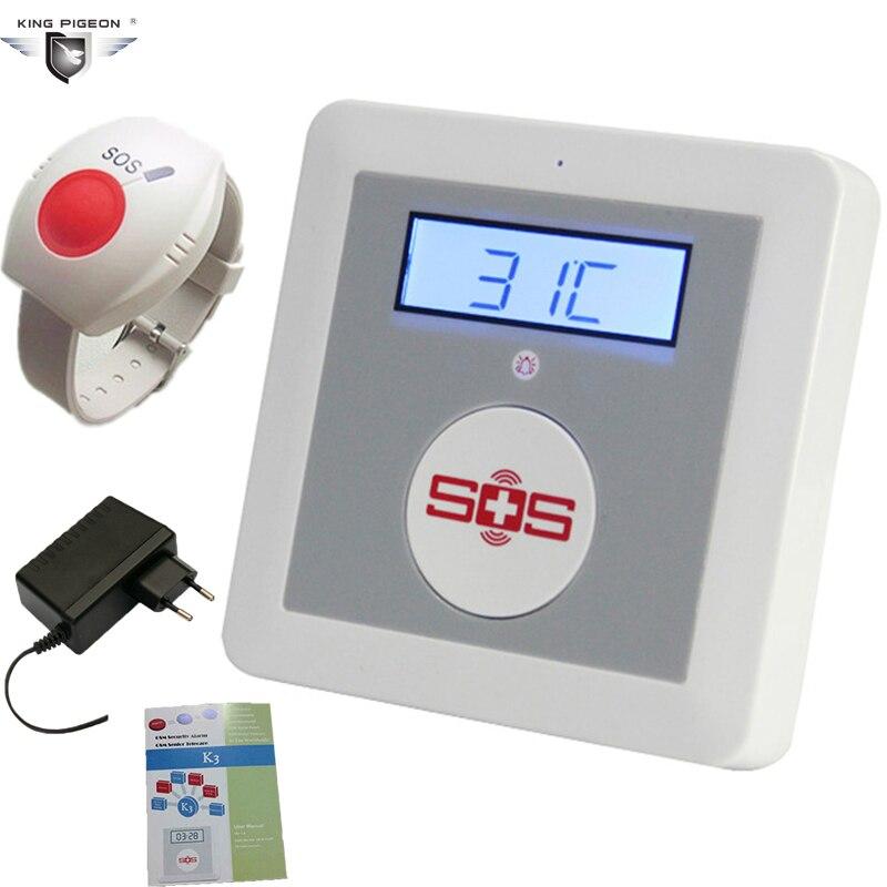 Système d'alarme domestique de sécurité GSM surveillance de température sans fil IOS Android APP SOS capteur de bouton panique