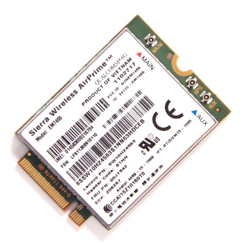 Lenovo EM7455 Sierra Airprime Wireless X260 T460 P50 P70 L560 FDD / TDD LTE  4G Module WWAN Gobi6000 QUALCOMMCard FRU:00JT542
