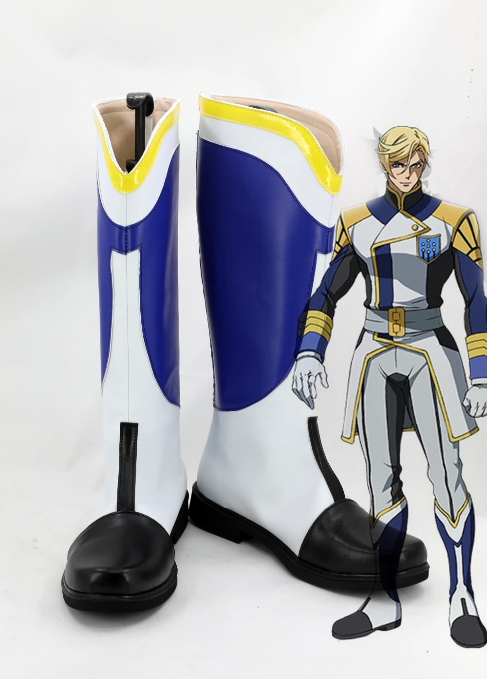 Mobile Suit Gundam Iron Blooded Orphans White McGillis Farido Cosplay Shoes Boots