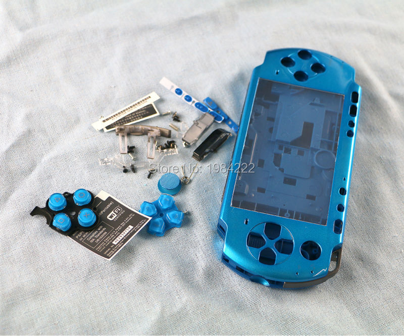 OCGAME Multi Color for PSP3000 PSP 3000 Game Console replacement full housing shell cover case with buttons kit 10pcs/lot