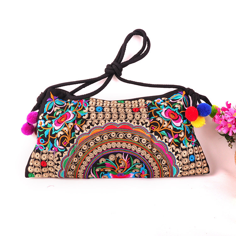 Us 7 07 27 Off Fashion Embroidered Ping Bags National Fl Embroidery Women Shoulder Cross Body Vintage Lady Messenger Small Carrier In