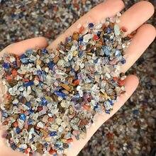 Atacado 50g 4 tamanhos irregular mistura pedras cascalho cristal cura reiki cristal gema quartzo cristais pedras naturais