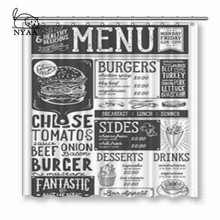 NYAA Vintage Newspaper Shower Curtains Polyester Fabric For Home Decor