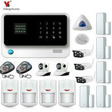 Yobang Security WIFI GSM Alarme Residencial Sem Fio APP Control Smoke Motion Alarm Outdoor/Indoor IP Cameras Surveillance Kits