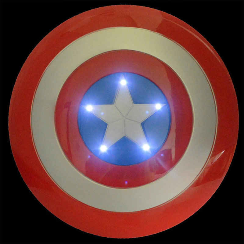 32CM Marvel Luminous Avengers Captain America Shield Light-Emitting Sound Cosplay Toy the avengers civil war captain america shield 1 1 1 1 cosplay captain america steve rogers abs model adult shield replica