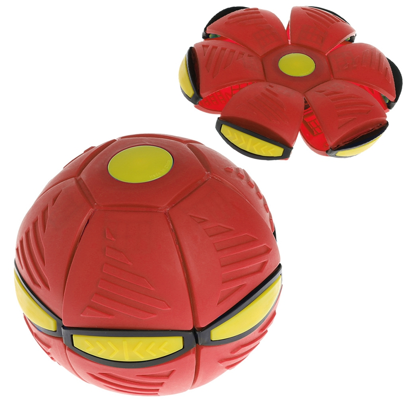 Flying UFO Flat Throw Disc Ball With LED Light Toy Kid Outdoor Garden Basketball Game in Toy Sports from Toys Hobbies
