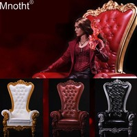 Mnotht 17SF01 soldier 1/6 European Queen Sofa chair Model Crystal button toy Scene Accessory for 12in Action Figure Collection b