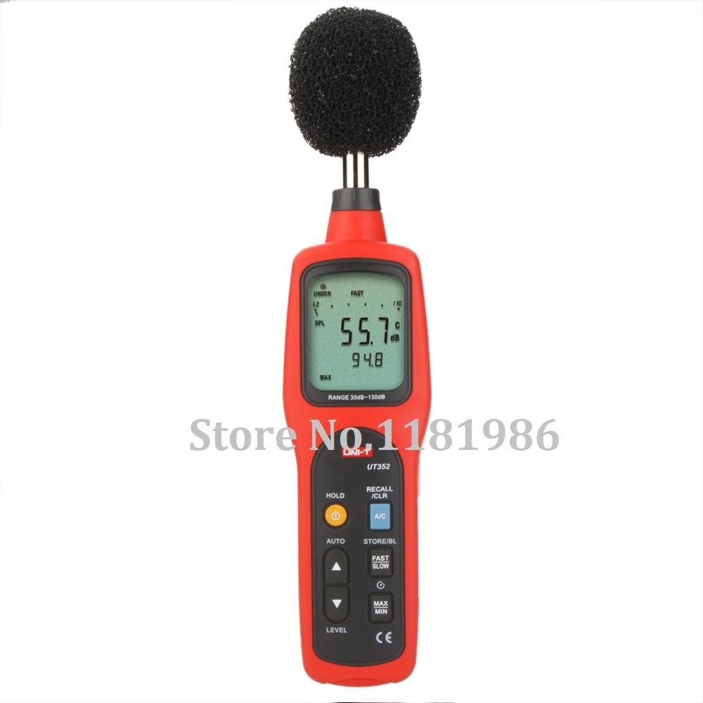 UNI-T UT352 Digital Sound Level Meter dB Decibel Meter Noise Monitor Tester Measuring Analysing w/ Data Logging & Recall  цены