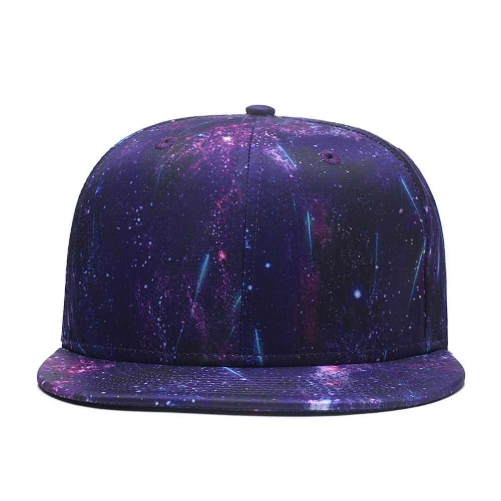 551ae06e Quanhaigou Snapback Hip Hop Hat ,Purple Galaxy 3D Printed Dad Plaid Flat  Bill Brim Adjustable Baseball Cap Men Women Trucker Hat