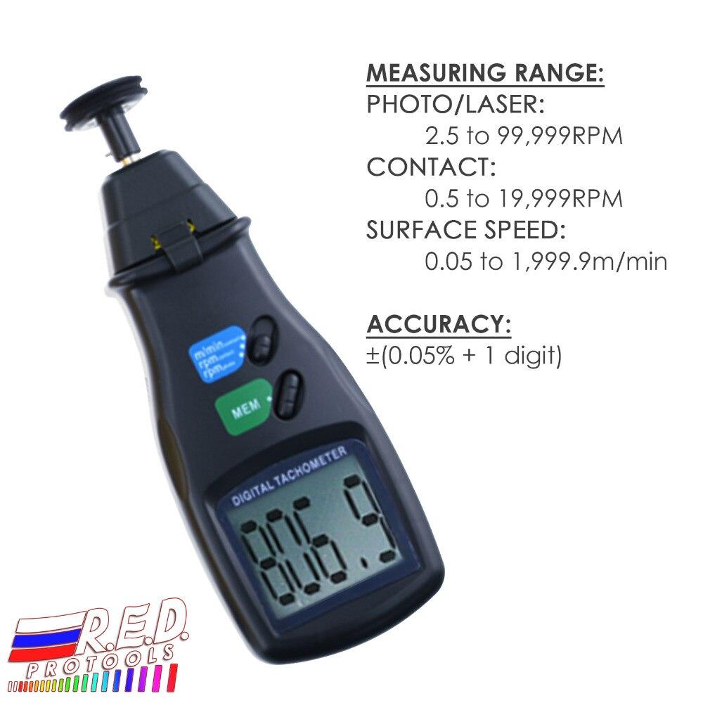 Capteur LASER Portable numérique 2 en 1 tachymètre Photo et Contact gamme Tach 99,999 tr/min