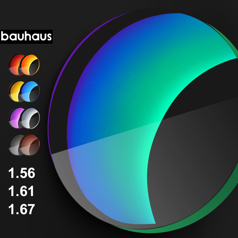 Bauhaus japon 1.56 1.61 1.74 indice polarisé personnalisé Prescription myopie ou hyperopie ou presbytie lunettes de soleil lentilles