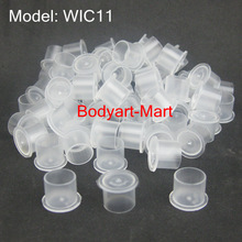 1000pcs 11mm White Steady Tattoo Ink Cups Small Size Clear Tattoo Ink Cup Cap Supply WIC11-1000#