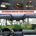 5 ''TFT LCD Auto Espejo Retrovisor Del Coche Monitor + Coche Cámara de Marcha Atrás atrás Para Toyota HiAce H200/Hiace Awing 2004 ~ 2014