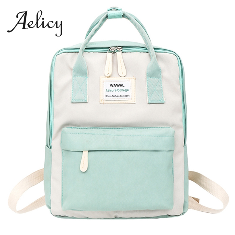 Aelicy Youth Campus Style Students Canvas School Bag Candy Color Women Backpack Travel Laptop Bag Teenager Casual Tote BagAelicy Youth Campus Style Students Canvas School Bag Candy Color Women Backpack Travel Laptop Bag Teenager Casual Tote Bag