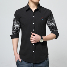 Cotton Men's Long-sleeved Shirt Fashion Business Hot Sales Men Clothing Slim Comfortable Multi-color Selection Large Size S-6XL
