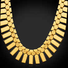 Africa Necklaces Geometric Tassels Rock Platinum / Gold Plated African Fashion Jewelry For Women Choker Necklace N351