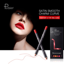 Pudaier new 1set/lot 12-color lip liner pen, waterproof, non-discoloration, matte velvet lipstick pen in stock