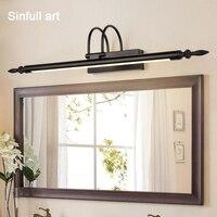 SINFULL ART European Retro Mirror Light Bathroom Led Wall Lamp American Dressup Cabinet Lamps Simple Makeup Room Indoor Sconce