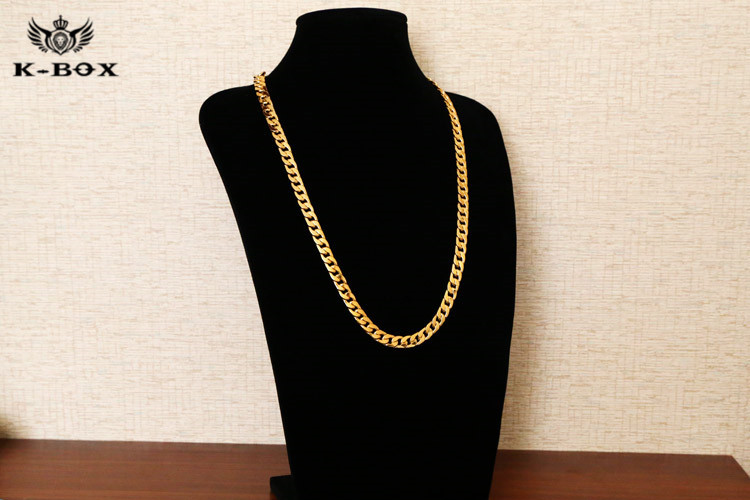 2019 10mm 30inch Real 24k Yellow Gold Plated Solid Cuban