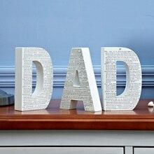 Папа письмо украшения аксессуары для дома гостиная ремесла творческие деревянный Детская комната украшения Европейский простой дизайн