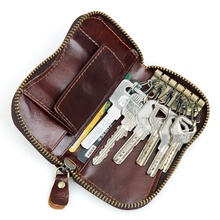 Hot Selling Genuine Leather Mens Unique Fashion Key Bag Classic Design Card Holder 8128Q
