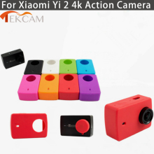 Tekcam For Xiaomi yi 4K plus Accessories Rubber Silicone Camera Case with Lens Protection Cap for Yi Xiaomi 2 4K Action Camera