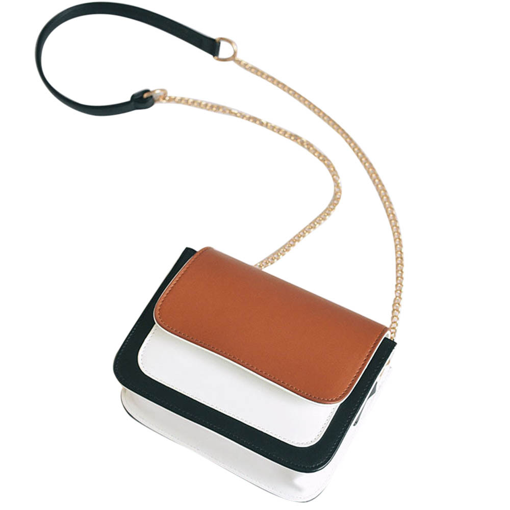 Fashion Women Bag Girls Leather Chain Handbag Crossbody Shoulder Bag Female Casual Hit Color Mini Small Messenger Phone Bag fashion small women messenger bag pu leather handbags mini shoulder crossbody bag casual girls clutches purses cell phone pouch