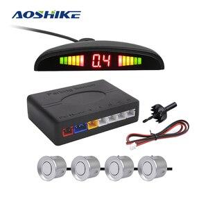 Image 1 - AOSHIKE New Auto Parktronic LED Parking Sensor with 4 Sensors Reverse Backup Car Parking Radar Car Monitor Detector System