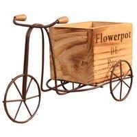 ABLA деревянная модель мотоцикла с коляской цветочный горшок из кованого железа велосипедный Цветочный Стенд для хранения в помещении домаш...
