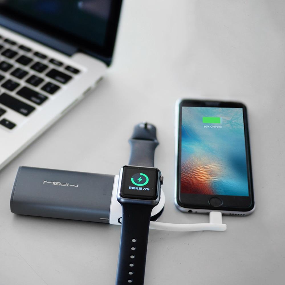 MIPOW MFi Zertifiziert Tragbare Magnetic Charging Dock Halter Stehen Ladegerät für Apple Uhr Builtin USB Kabel iPhone 7/8 Energienbank